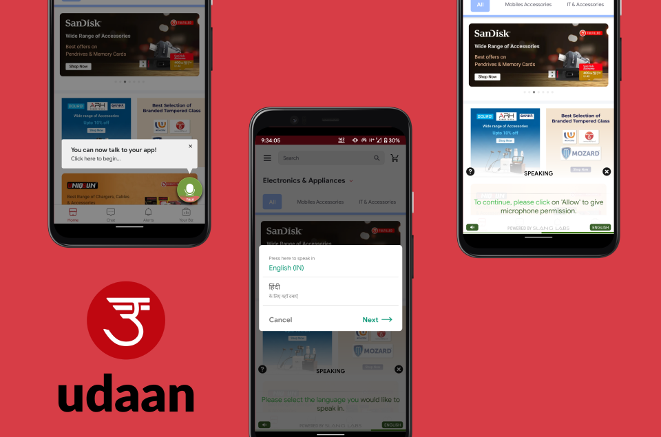 Udaan B2B Voice Assistant by Slang Labs