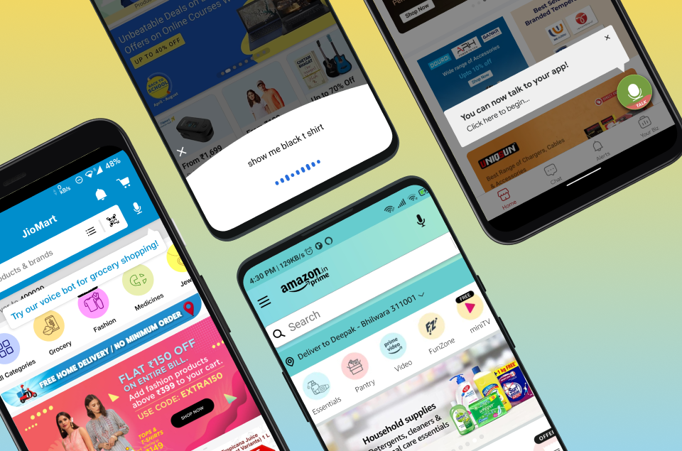 Top 6 e-commerce apps with in-app voice assistants