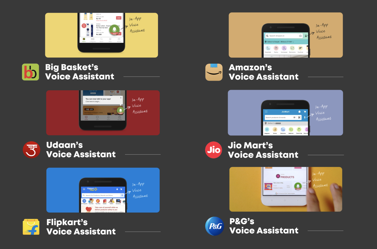 Top Indian brands and their in-app voice assistants for the Next Billion Users