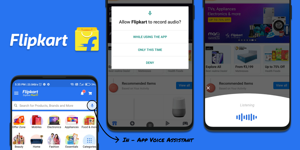 First Time launch of Flipkart Voice Assistant