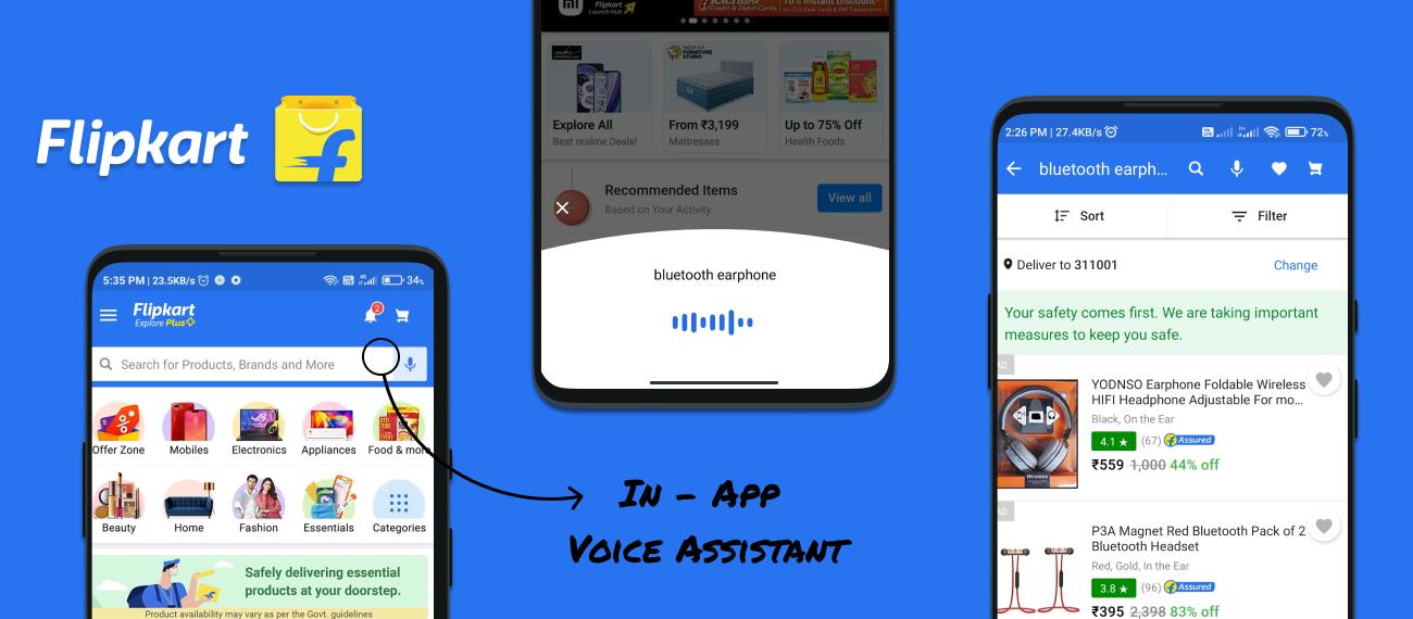 Flipkart's In-App Voice Assistant