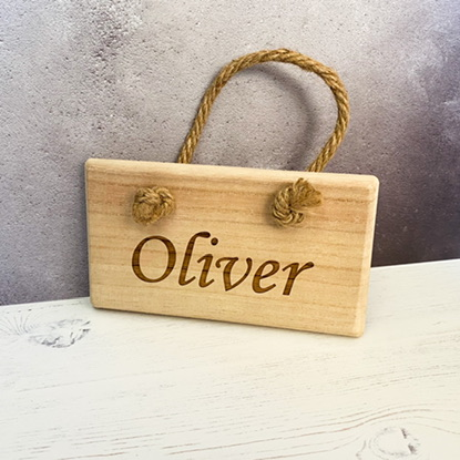 Personalised Rope Hanging Plaque