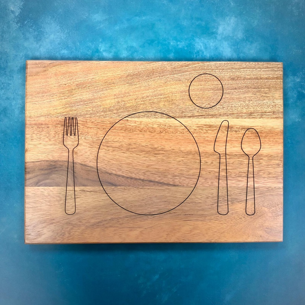 Solid Acacia Wooden Children's Place Mat