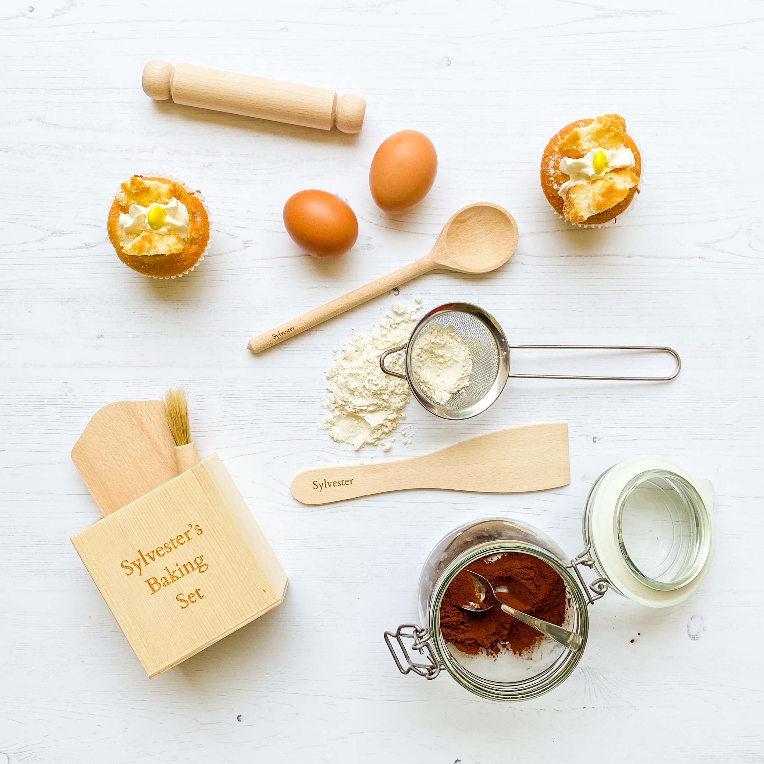 Personalised Children's Wooden Baking Set