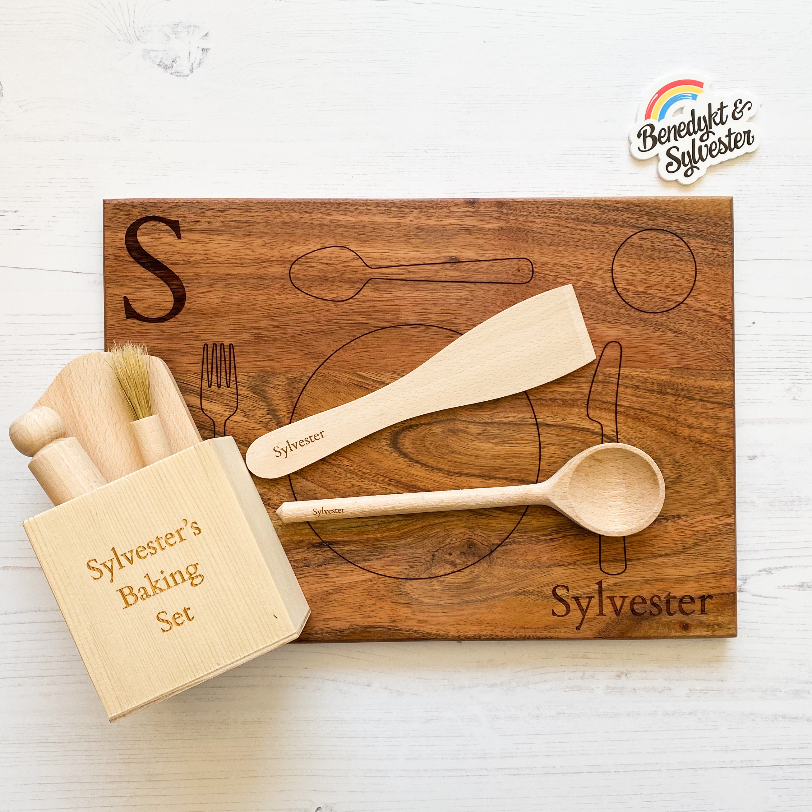 Practical Life Gift Set (Personalised Baking Set and Montessori Placemat)
