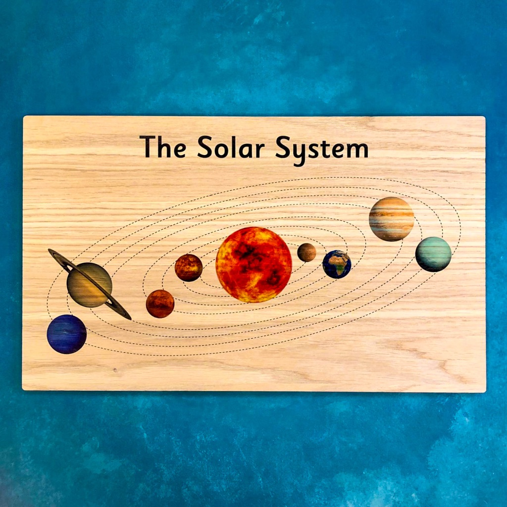 Montessori Inspired Wooden Display Board - Solar System
