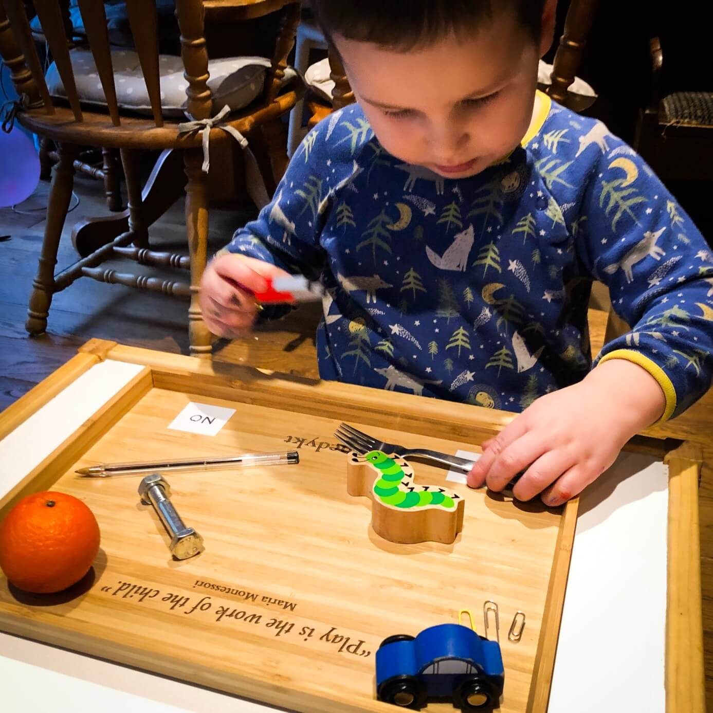 Benedykt and Sylvester - Montessori Bamboo Play Trays
