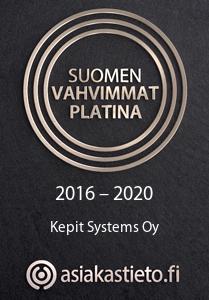 Suomen Vahvimmat Platina -sertifikaatti