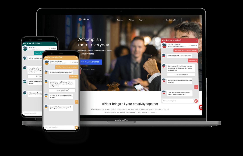 Chat-Widget ist individuell für jedes Unternehmen