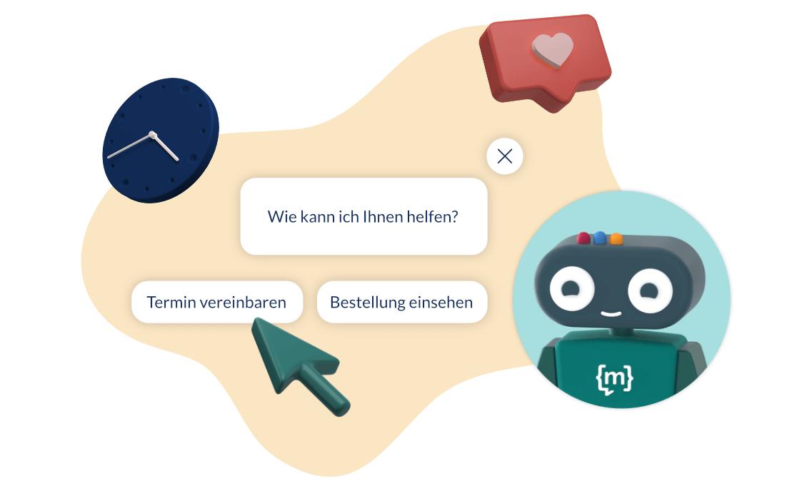 Steigert die User Experience und ermöglicht mehr Self Service für Kunden. Ein Chatbot