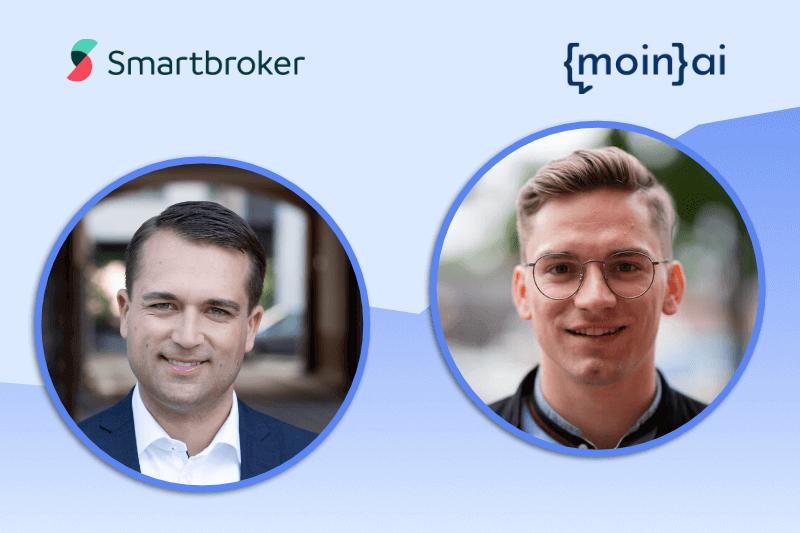 Thomas Soltau CEO bei wallstreet:online capital AG / FondsDISCOUNT.de / Smartbroker im Webinar mit Managing Director Frederik Schröder von moinAI über den Chatbot von Smartbroker