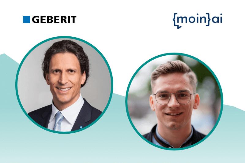 Geberit Marketingleiter Thomas Brückle im Chatbot Webinar mit moinAI und Frederik Schröder