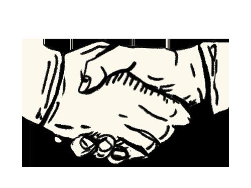 Illustration of hand shake