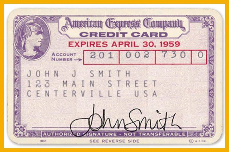1959 American Express Credit Card