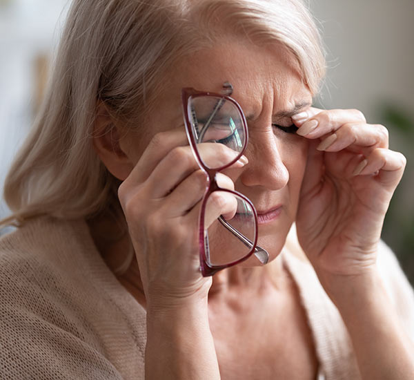 Menopause changes getting older woman down.