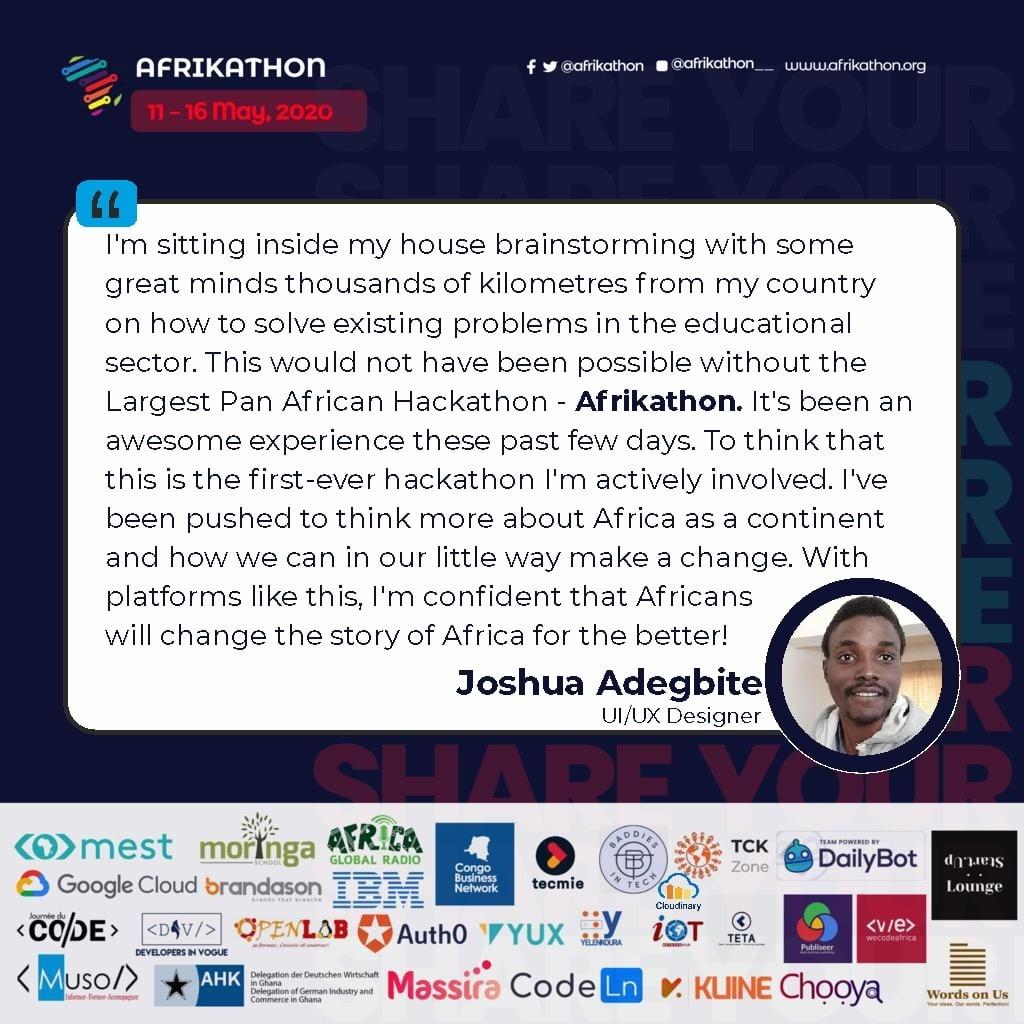 Andrew Miracle Afrikathon MEST Africa