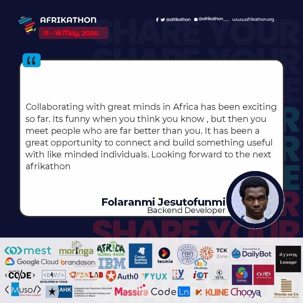 Andrew Miracle Pan African Hackathon Built In Africa