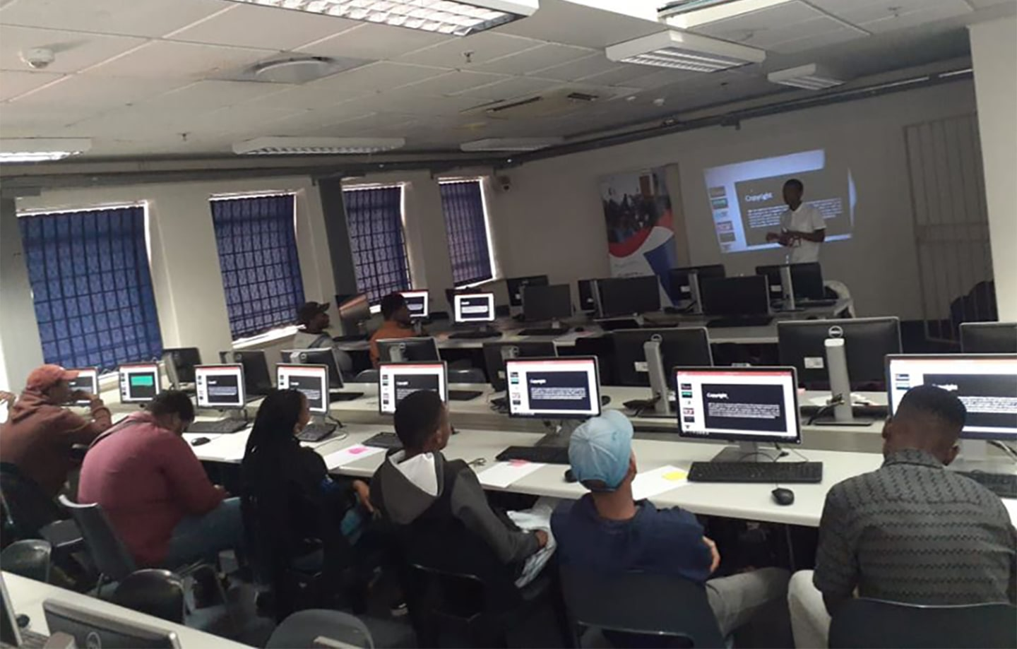 Diketso Setho self-taught developer and chairman of Ghetto Heroes Tech Innovation, teaches coding to South African youth from disadvantaged communities.
