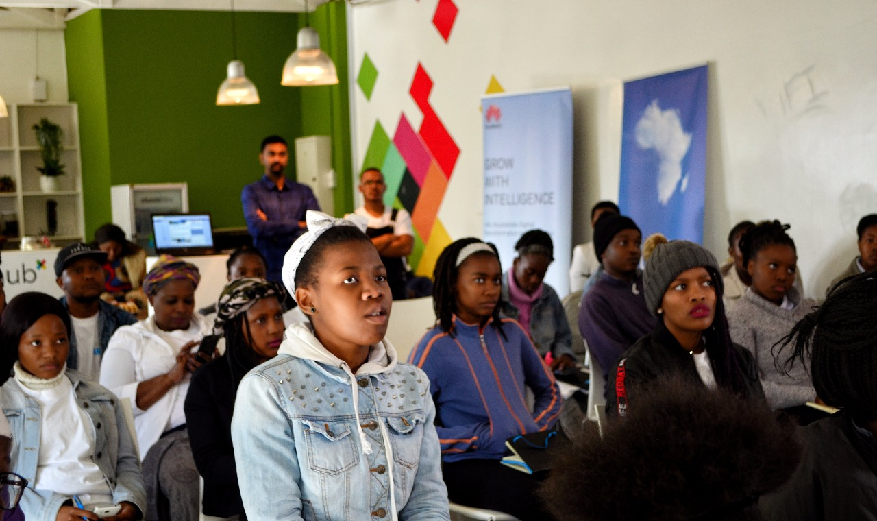 Mbali Hlongwane, Founder of Pink Codrs Africa, Johannesburg, South Africa company with a network of African female software developers. Built in Africa.
