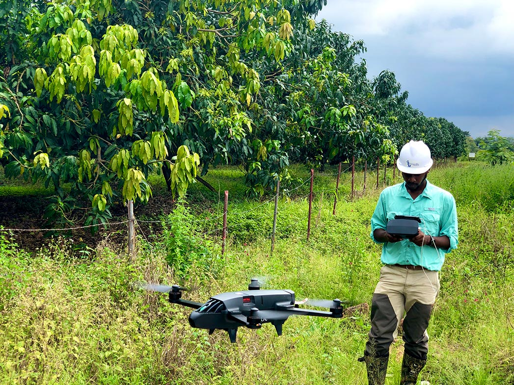 George Madjitey Ghanian American, CEO of GEM Industrial Solutions a Ghana UAS service delivery provider using drones for farm management. Built in Africa.