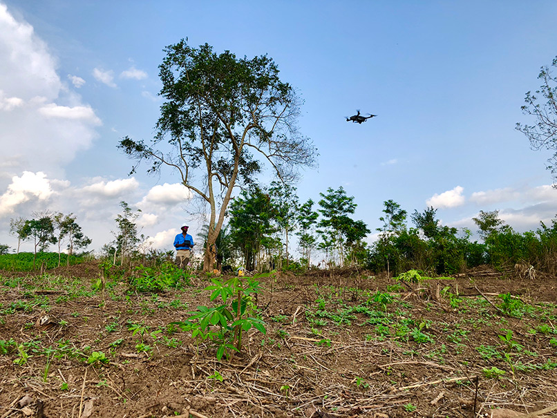 drone technology in Africa's agriculture sector
