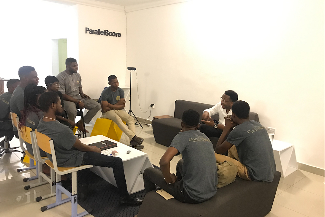 Chika Umeadi and Adebayo Dawodu of ParallelScore and Tiphub. Nigerian product development firm building Blockchain, AI, Machine Learning, AR/VR. solutions.