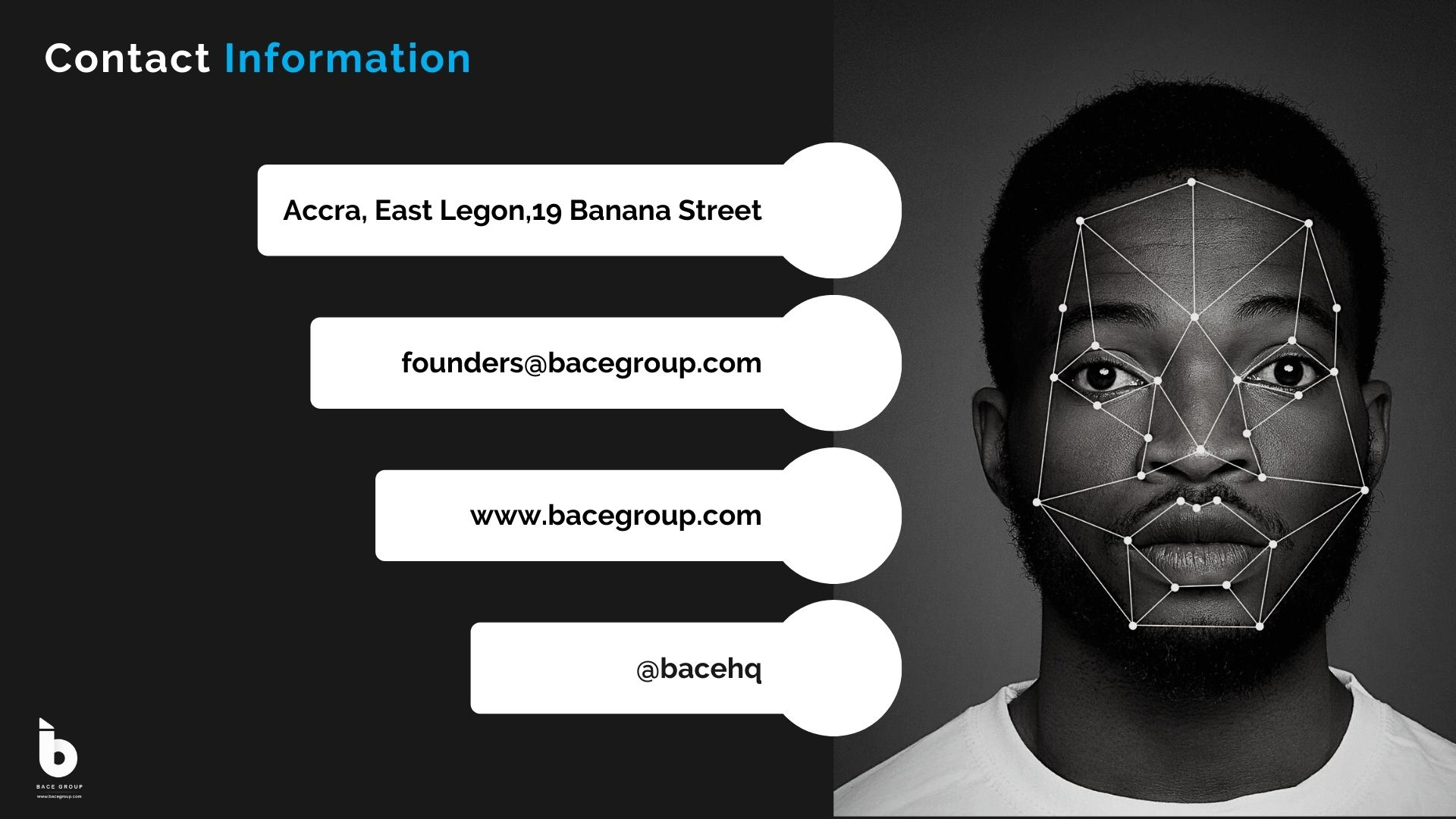 Charlette Desire N'Guessan, CEO of BACE Group, the Ghanaian digital identity software company.