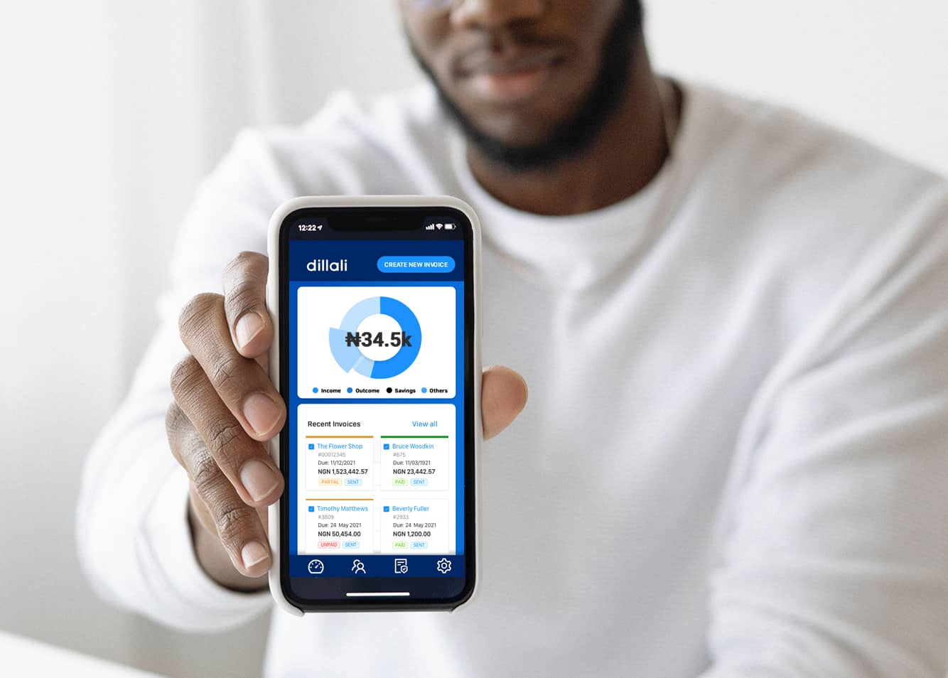 Ibrahim Bashir, co-founder of dillali, an income and expense management tool for SMEs in Africa.