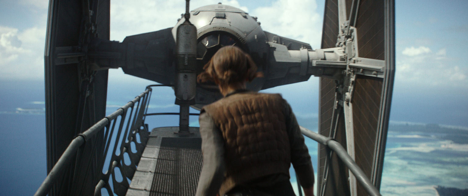 Jyn and TIE fighter