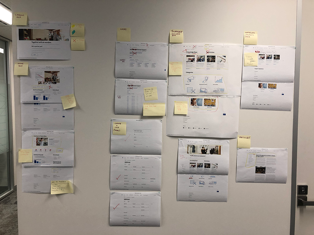 I rapidly iterated the wireframes after every round of testing