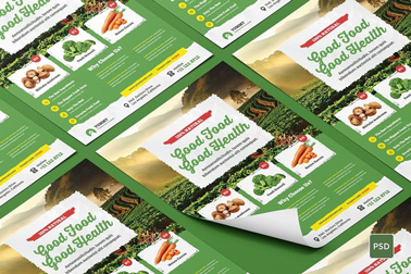 Green Vegetable food and beverage label examples on sheet
