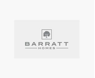 "A black ""BARRATT"" Logo"
