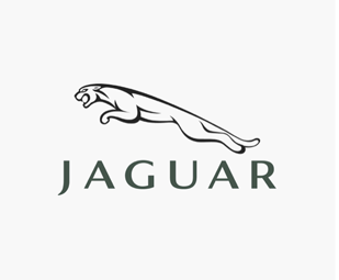 "A black ""JAGUAR"" Logo"