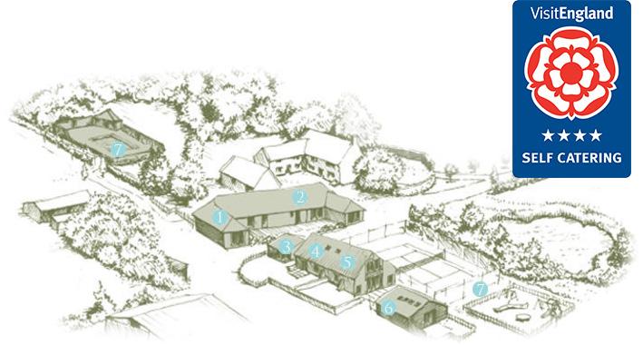 East Coast Farm Cottages map