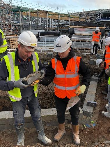 Saint Ambassador teaching construction