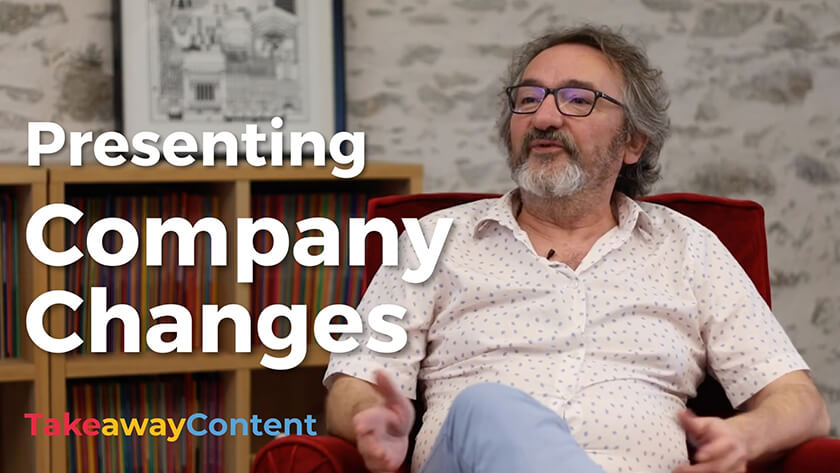 Presenting company news with video