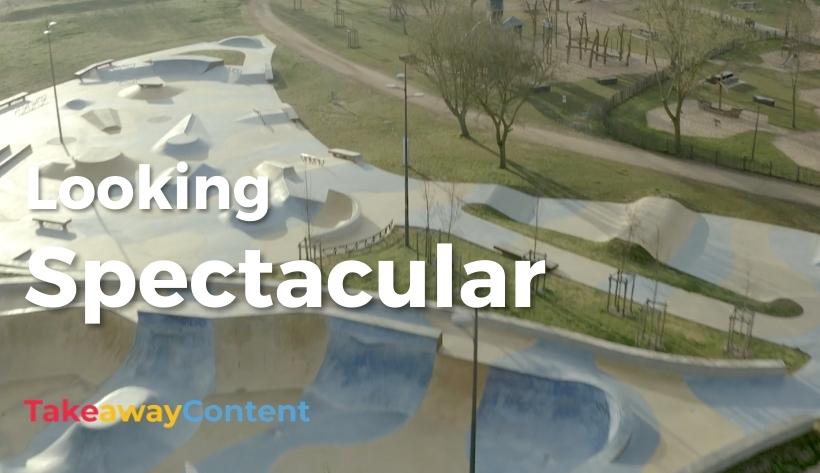 Drone video of skatepark