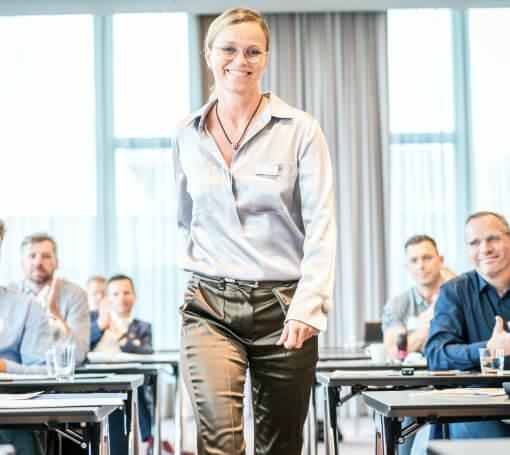 Anita Gärtner auf einem Seminar