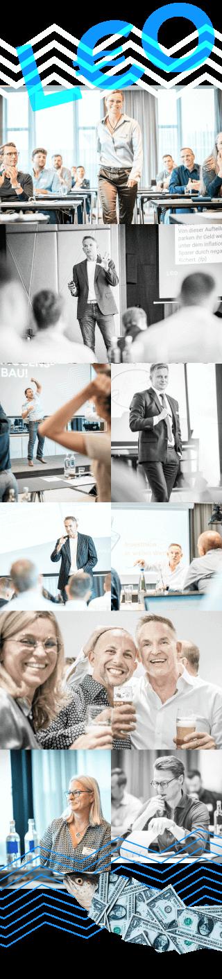 Bildercollage von Seminaren