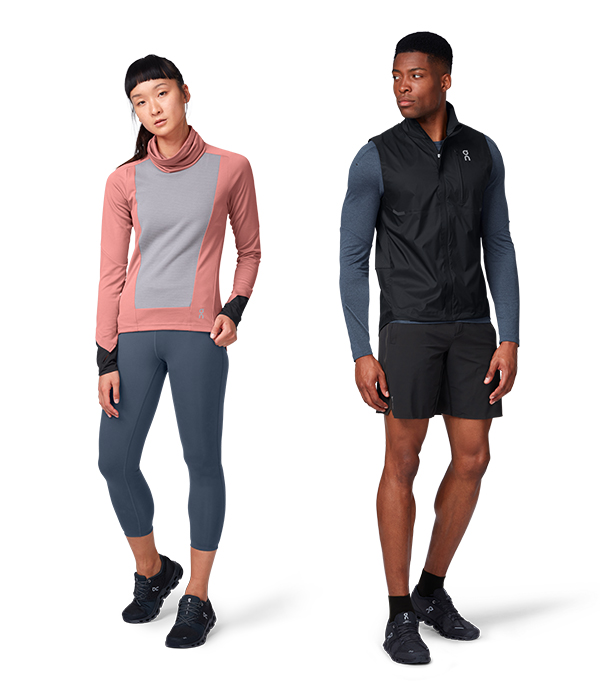 Man and Woman models wearing ON Running brand sportswear