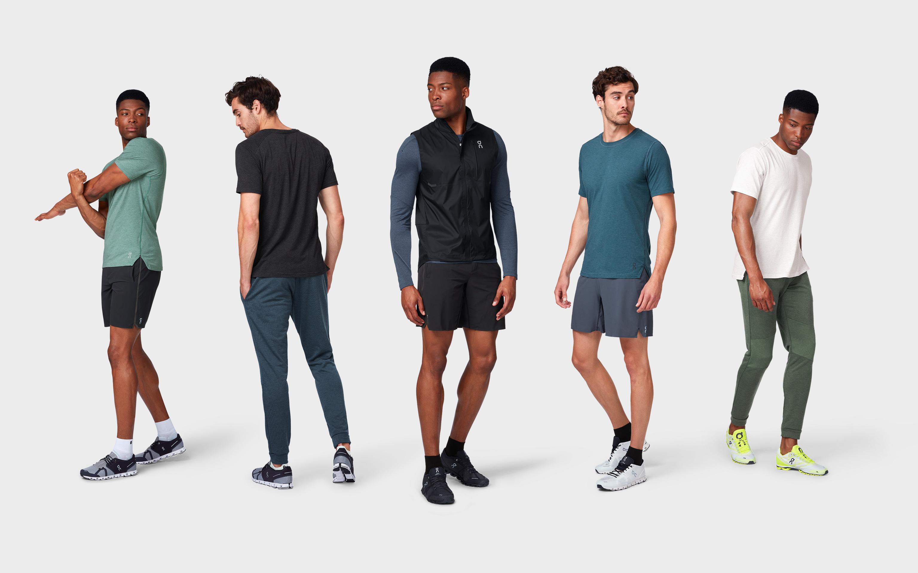 5 menswear sportswear models