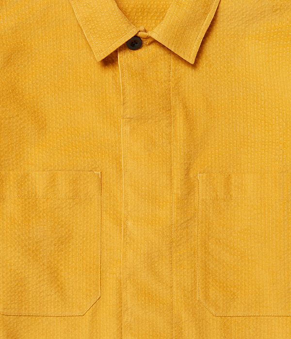 Yellow shirt close up eCommerce photograph