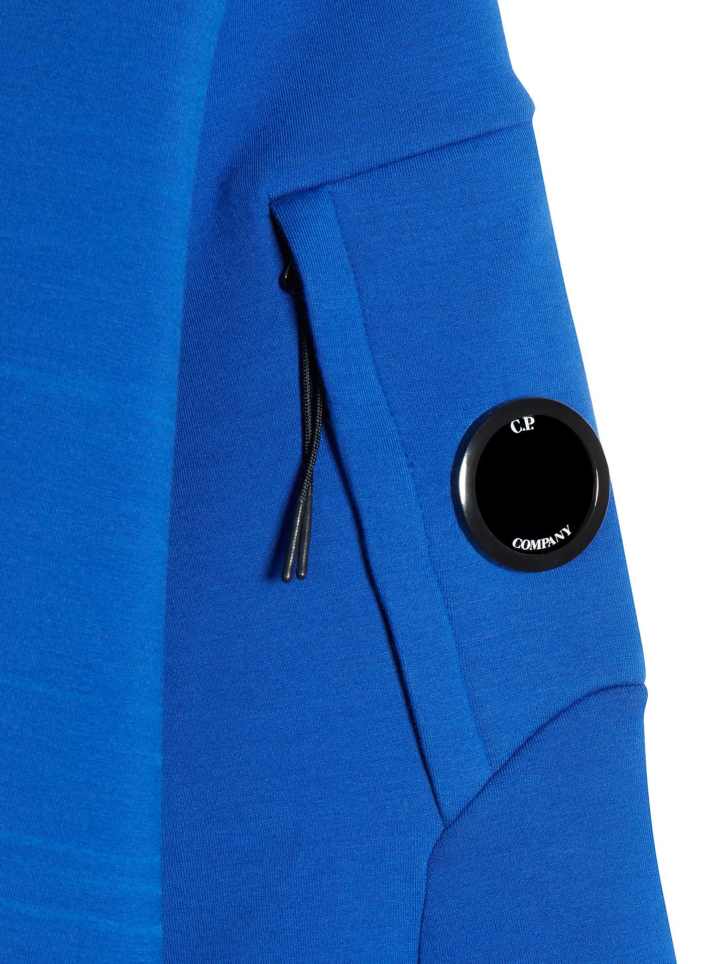 C.P. Company blue jumper detail shot