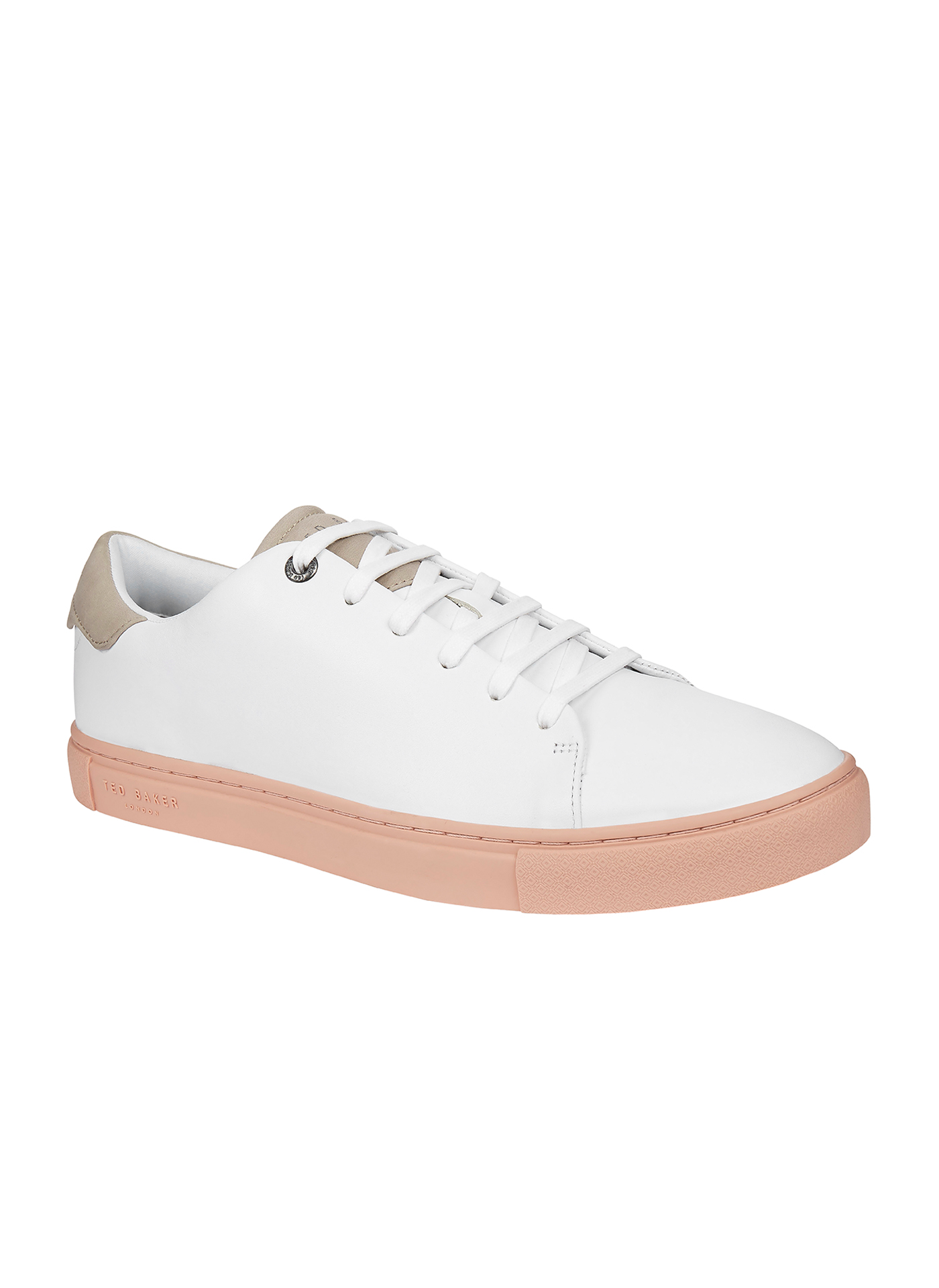 White Ted Baker casual trainers with rubber sole