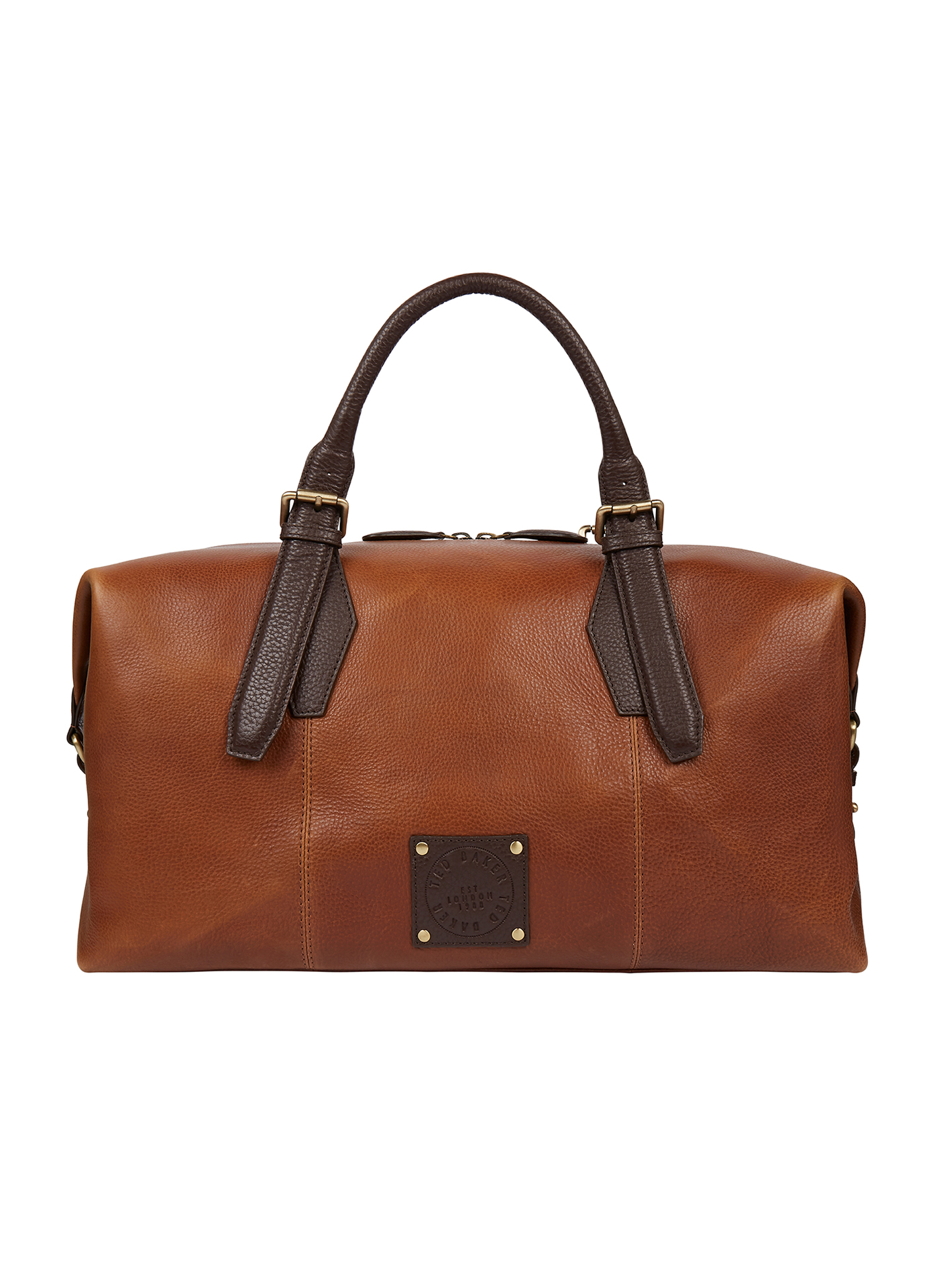 Brown Leather Ted Baker overnight bag