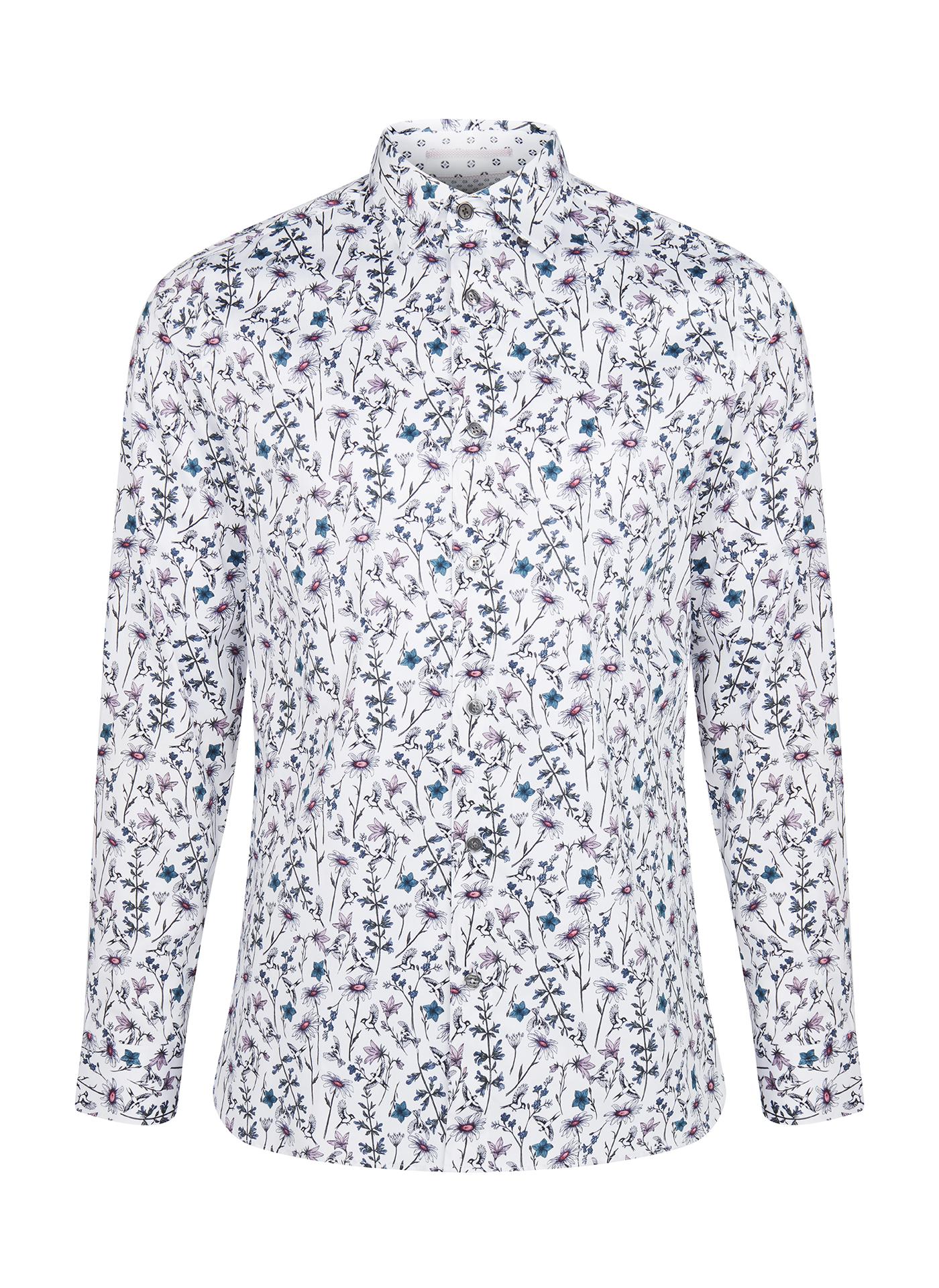 light blue pattern Ted Baker shirt
