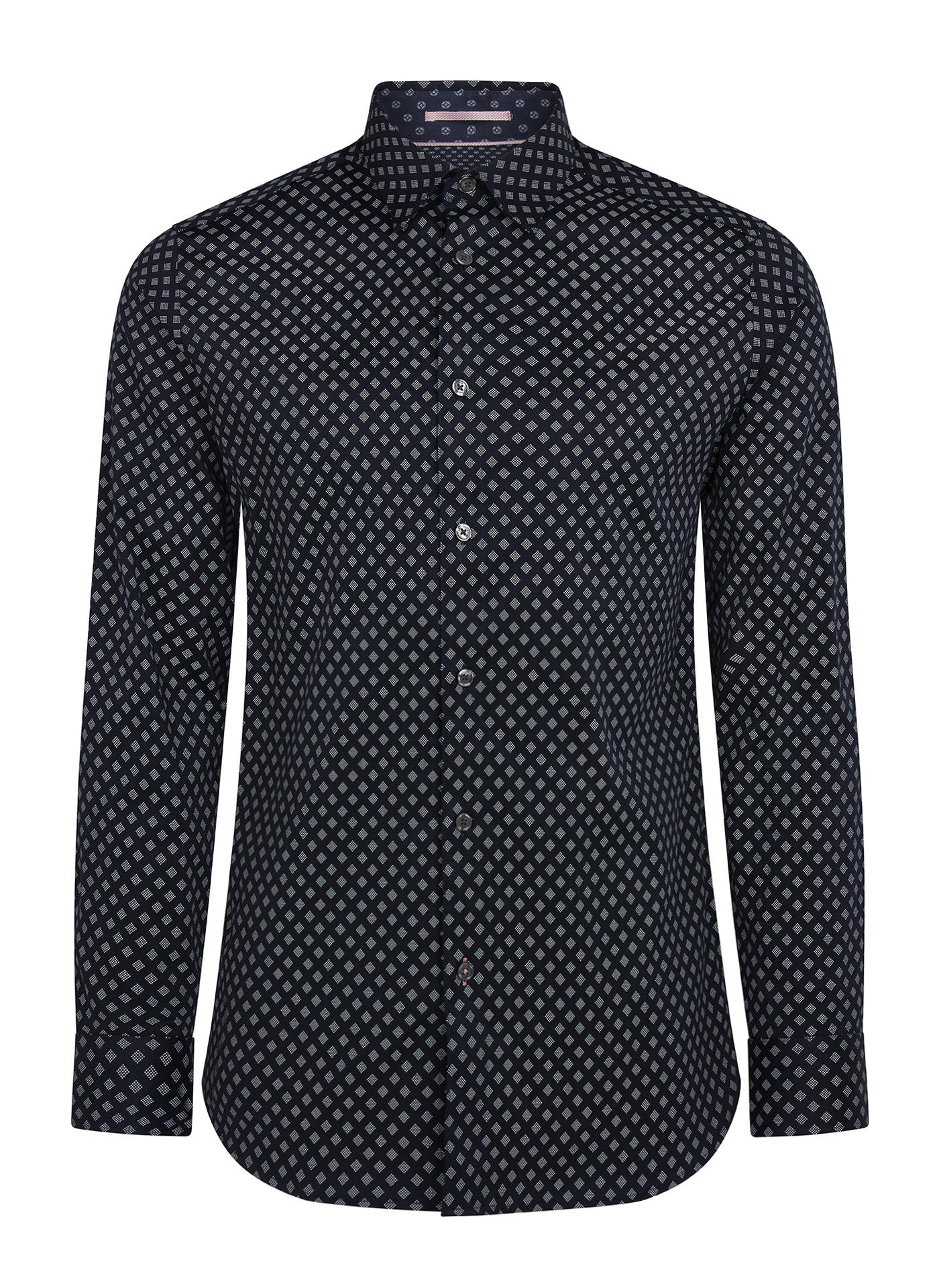 Dark dot pattern Ted Baker mens shirt