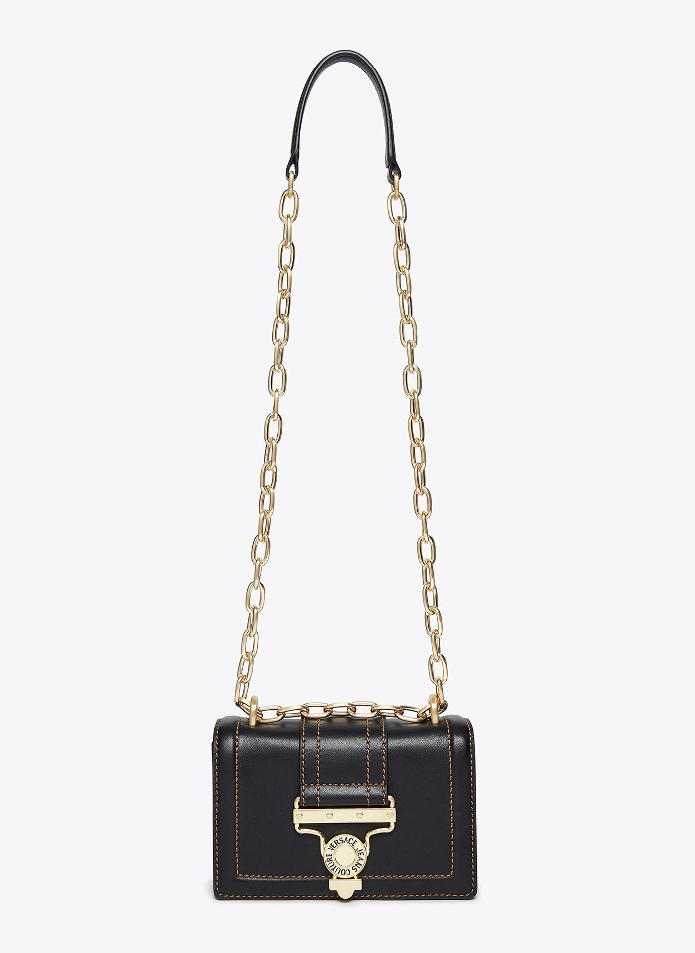 black and gold versace handbag