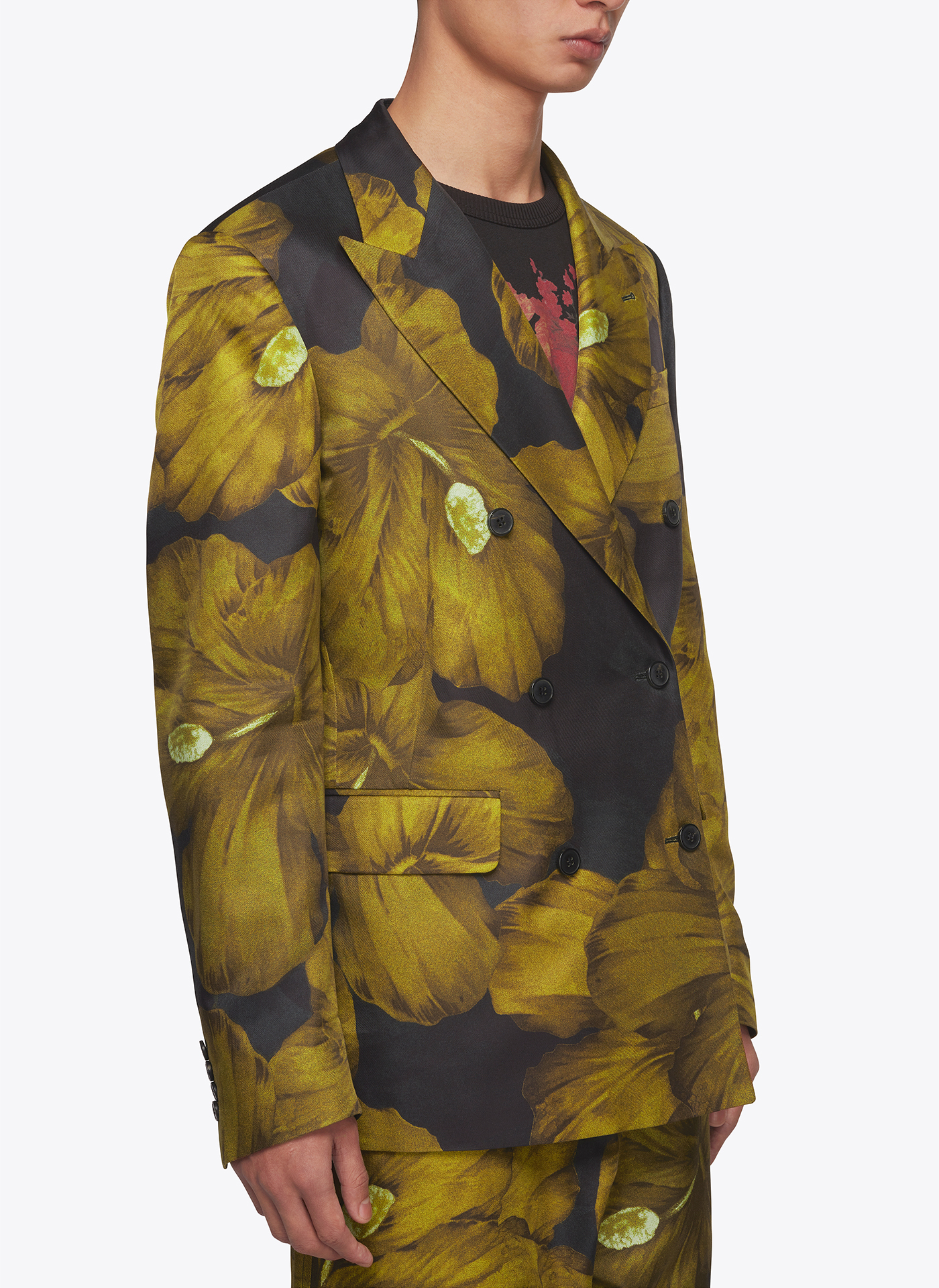 menswear jacket with floral elements