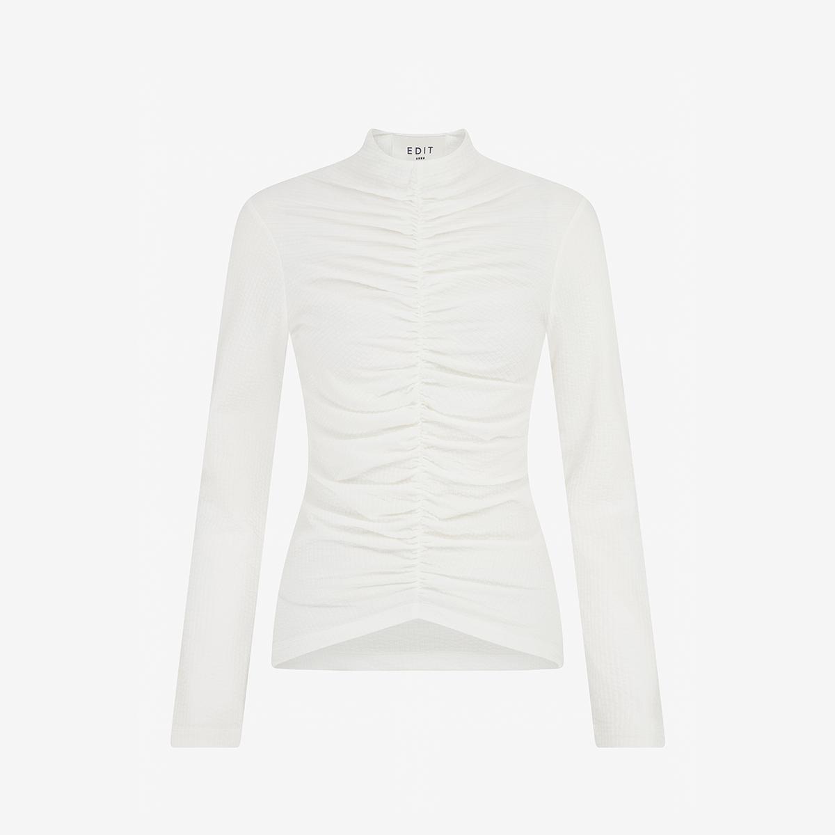 White womenswear turtle neck on white background